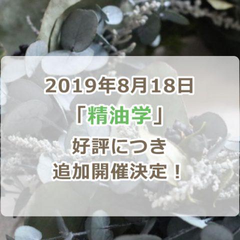 2019精油学追加